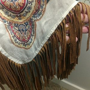 Chico's Tops - Chico's Scarf Fringed Poncho ONE SIZE FITS All